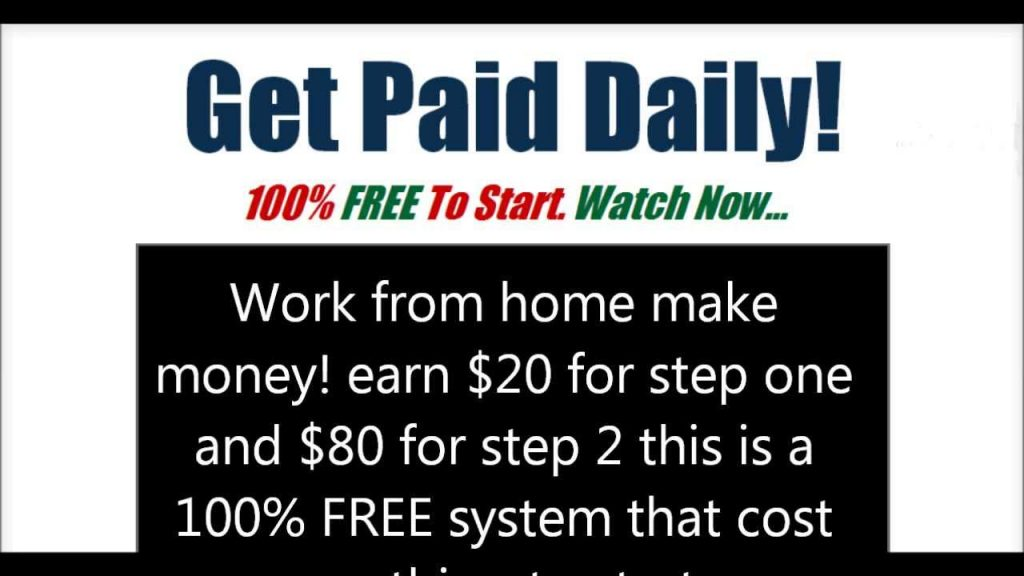 Work From Home No Investment Paid DAILY Into Paypal Review