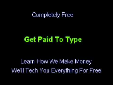 earn money typing from home