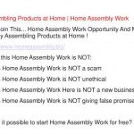 Home Assembly Work – Get Paid to Assembly Products at Home