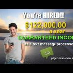 TEXTMESSAGEPROCESSOR – $470 Guaranteed Income per Day – Process Text Messages